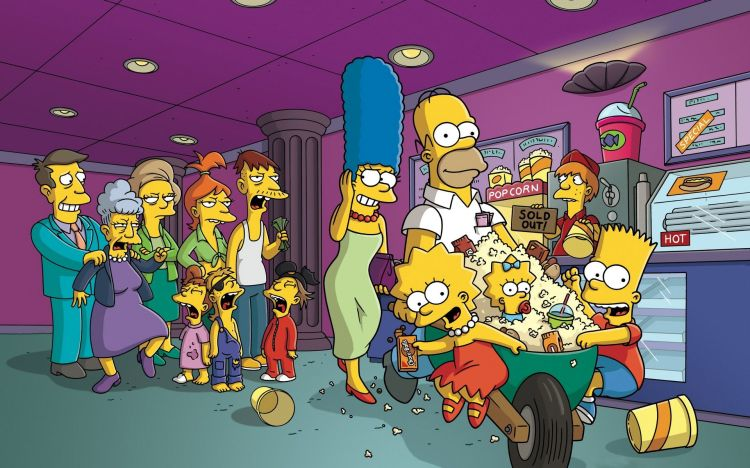 The Simpsons in the cinema