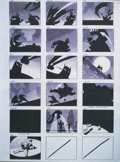 Batman animated series Storyboard