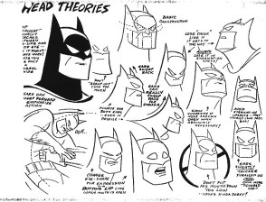 Batman animated series batman head